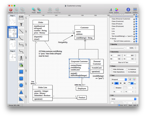 Runway A Simple Yet Powerful Native Uml Design App For Mac Os X