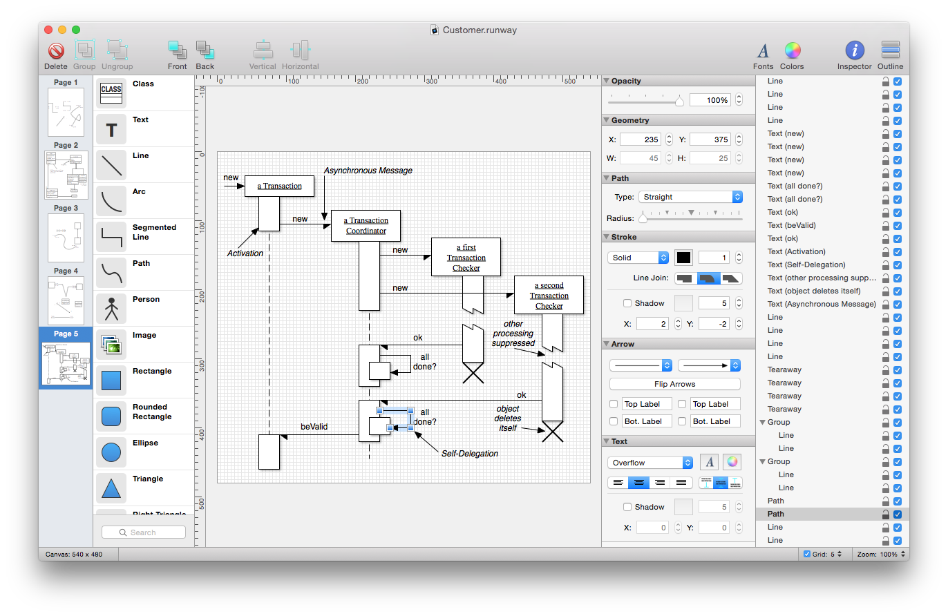 runway a simple yet powerful native uml design app for mac os x yoz screen8 large - Free Uml Tool For Mac