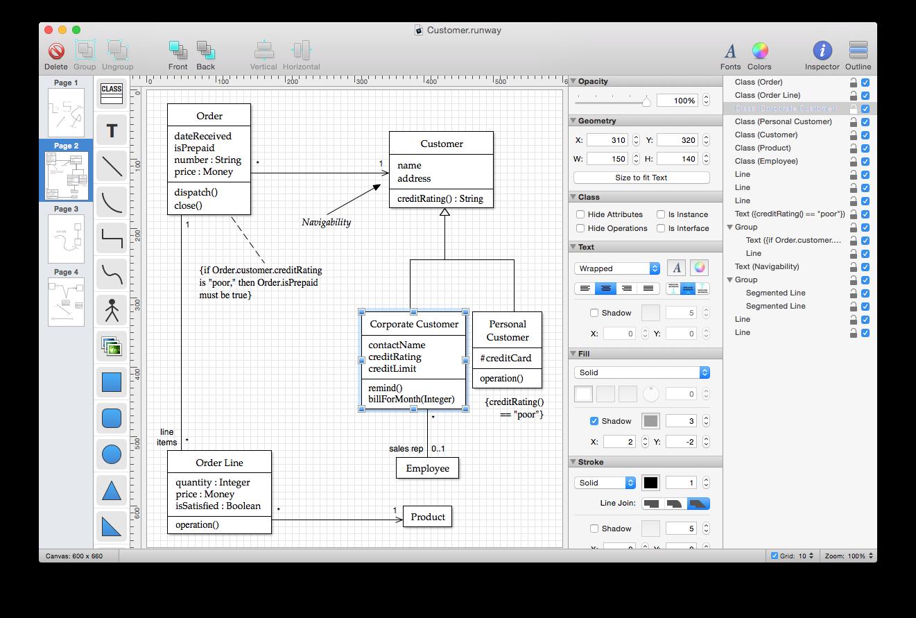 Runway A Simple Yet Powerful Native Uml Design App For Mac Os X